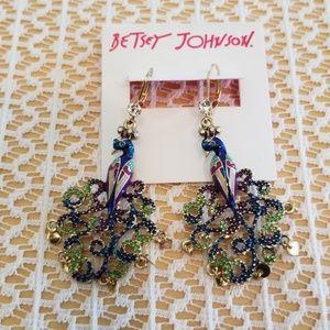 Betsey Johnson peacock earrings